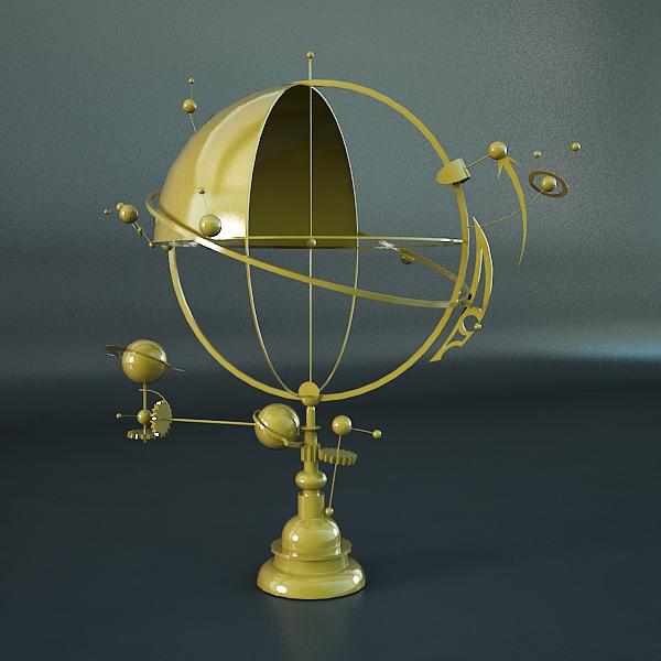 solar system orrery 3d model 3ds max dxf fbx c4d x lwo ma mb hrc xsi  obj 140400