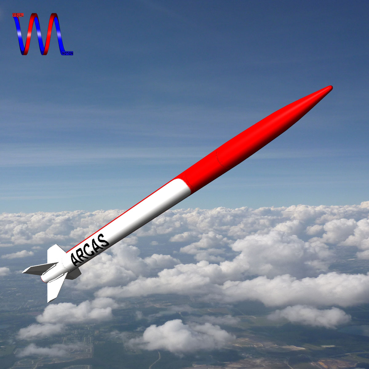 us arcas sounding rocket 3d model 3ds dxf cob x obj 155402