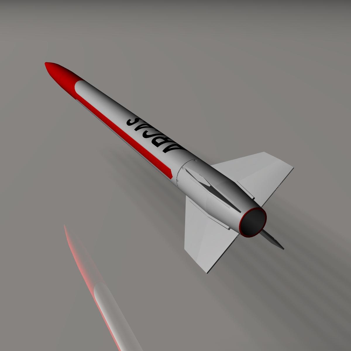 हमें आर्कस साउंडिंग रॉकेट 3d मॉडल 3ds dxf cob x obj 155406