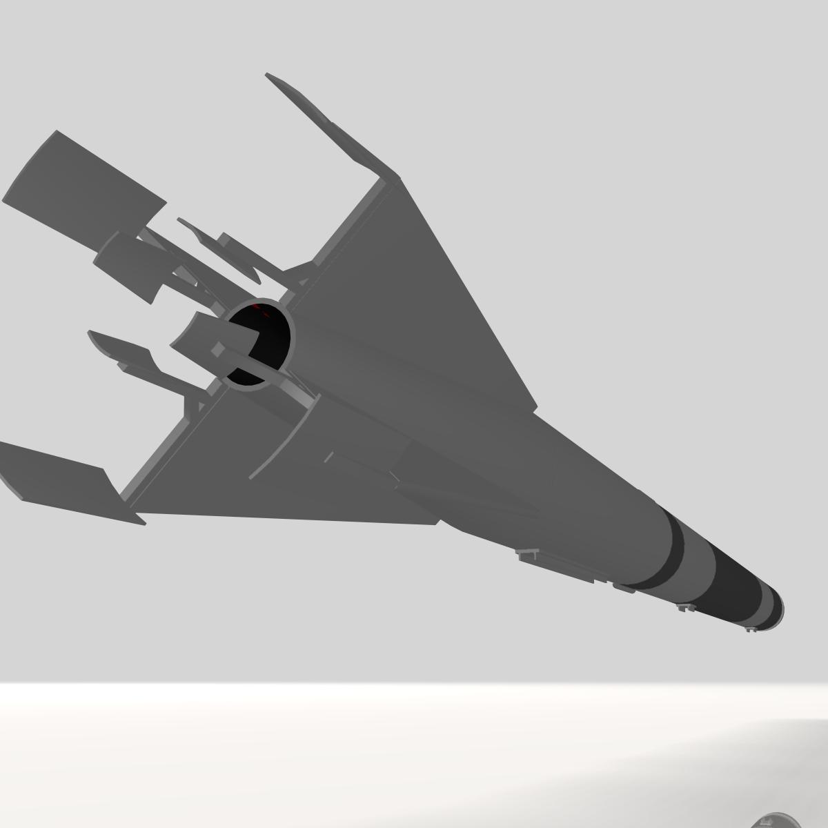 us l-13 rocket 3d model 3ds dxf cob x obj 140316