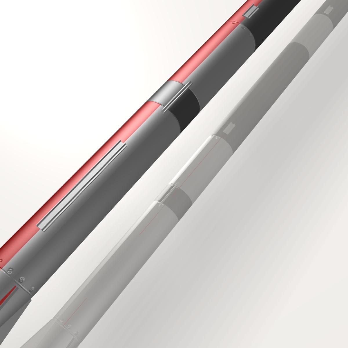 us l-13 rocket 3d model 3ds dxf cob x obj 140317