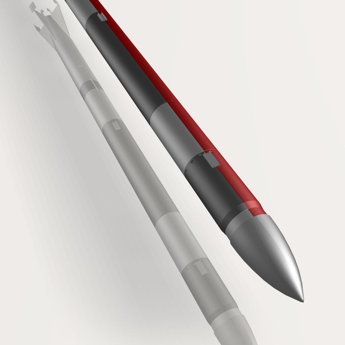 us l-13 rocket 3d model 3ds dxf cob x obj 140318