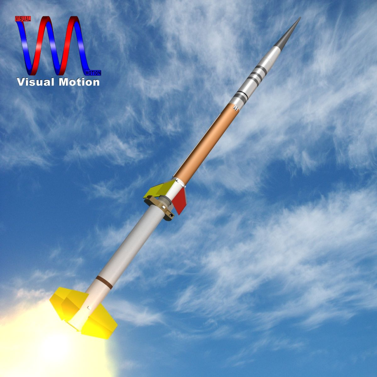 us terrier-improved malemute rocket 3d model 3ds dxf cob x obj 145262