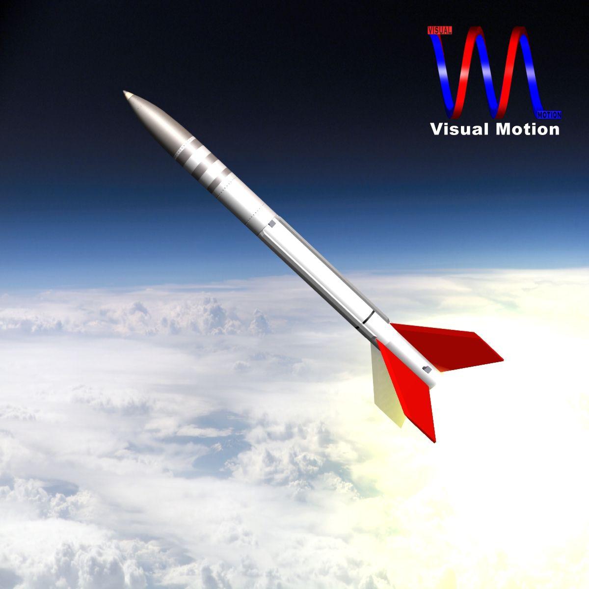 us terrier-lynx rocket 3d model 3ds dxf cob x obj 140323