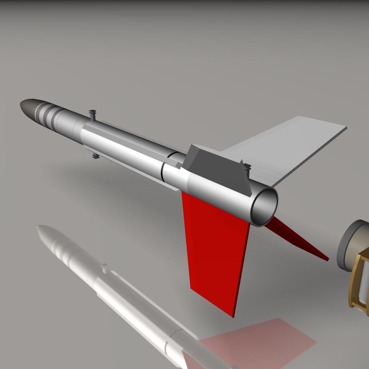 us terrier-lynx rocket 3d model 3ds dxf cob x obj 140325