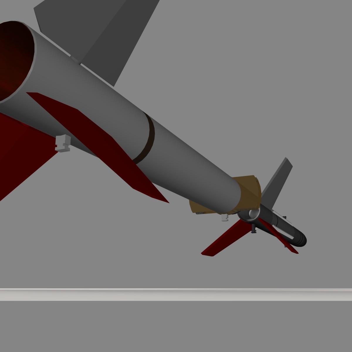 us terrier-lynx rocket 3d model 3ds dxf cob x obj 140327