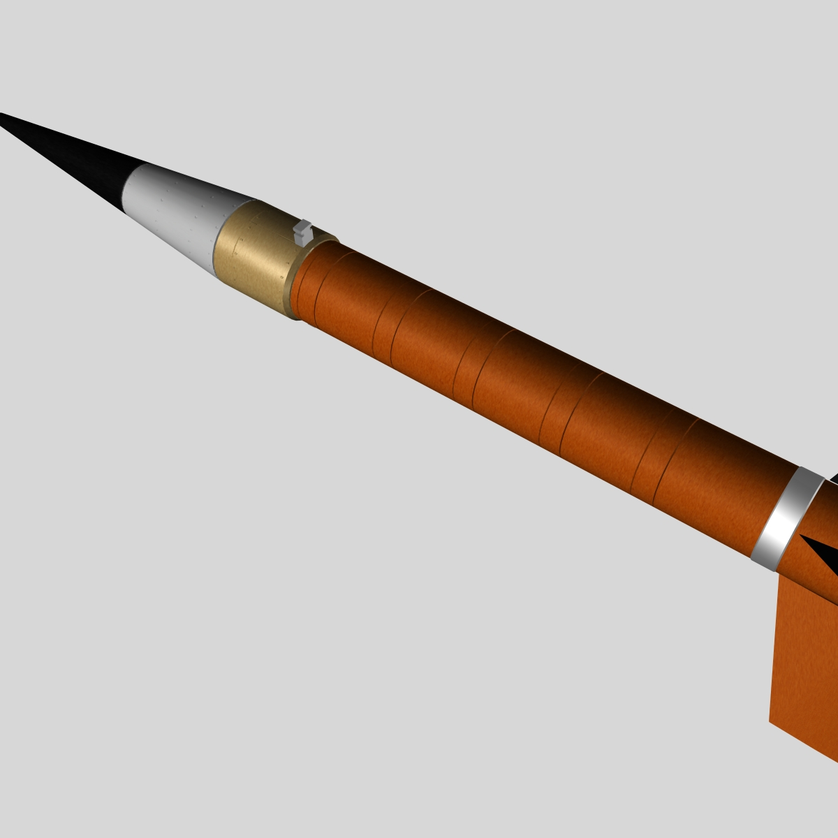 us terrier-nike missile 3d model 3ds dxf cob x obj 140335