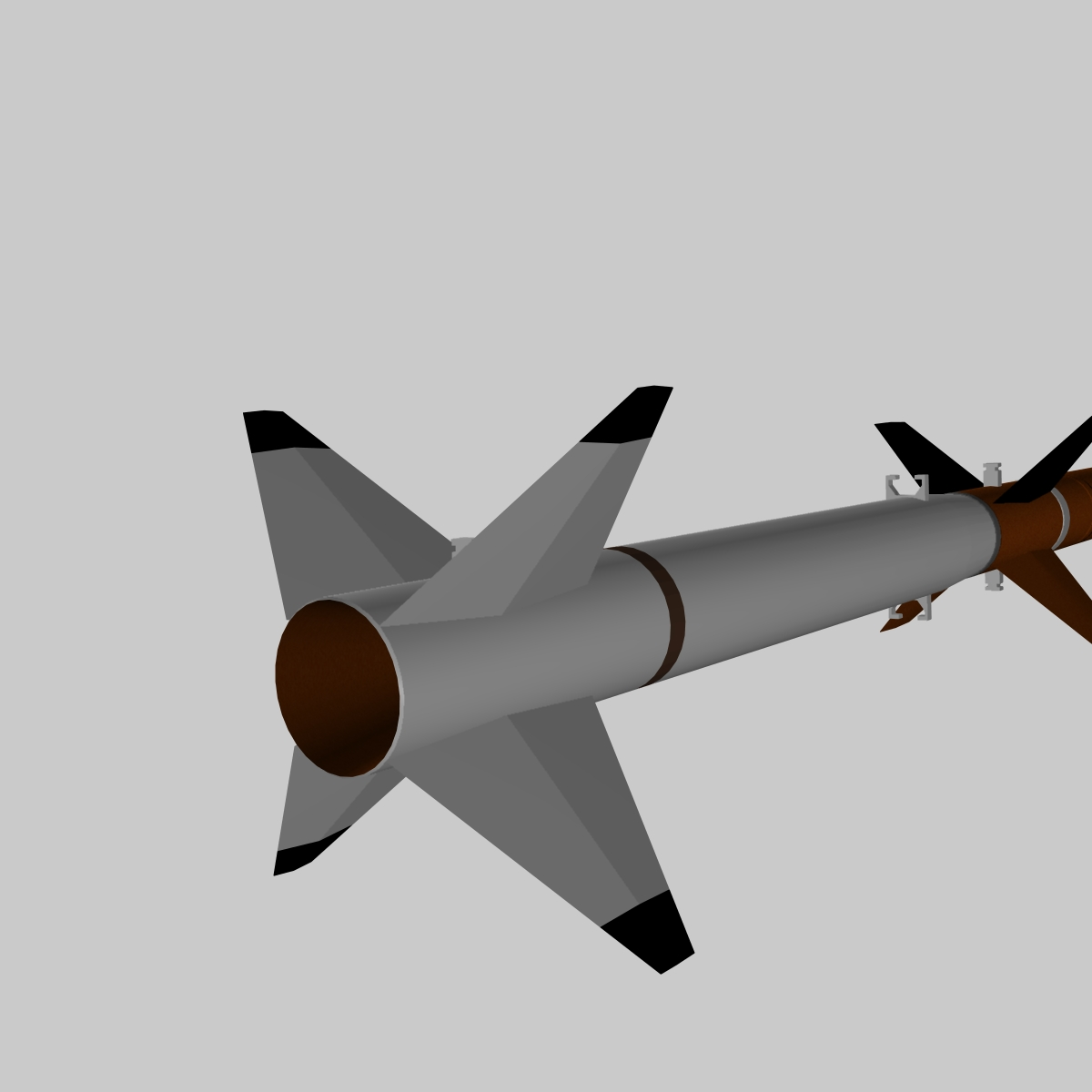 us terrier-nike missile 3d model 3ds dxf cob x obj 140337