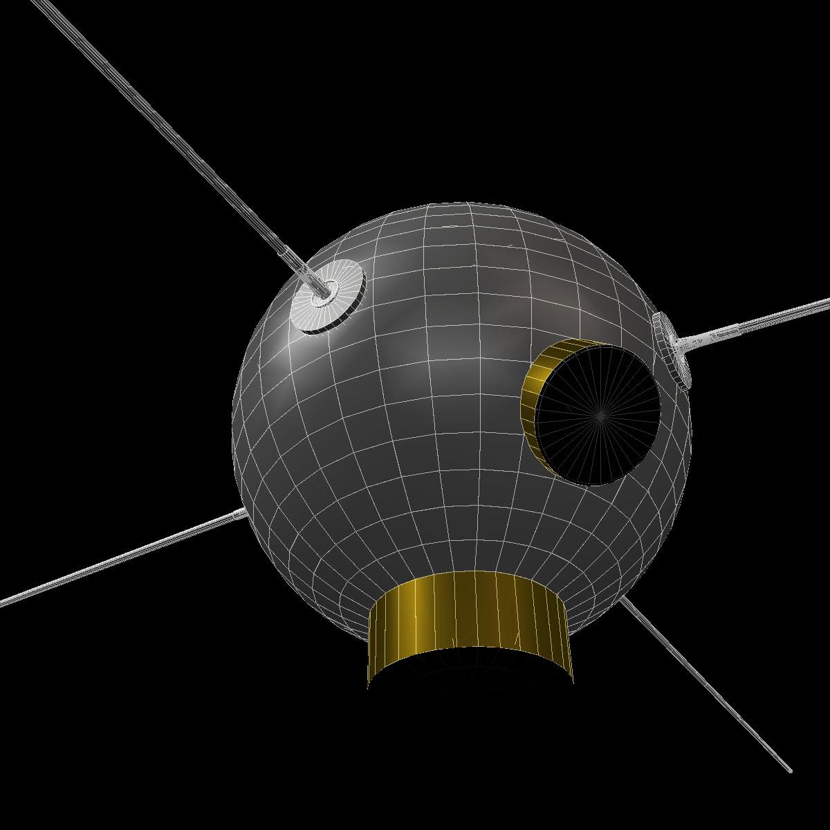 avangard ii satelit 3d model 3ds dxf fbx mješavina cob dae x obj 163944