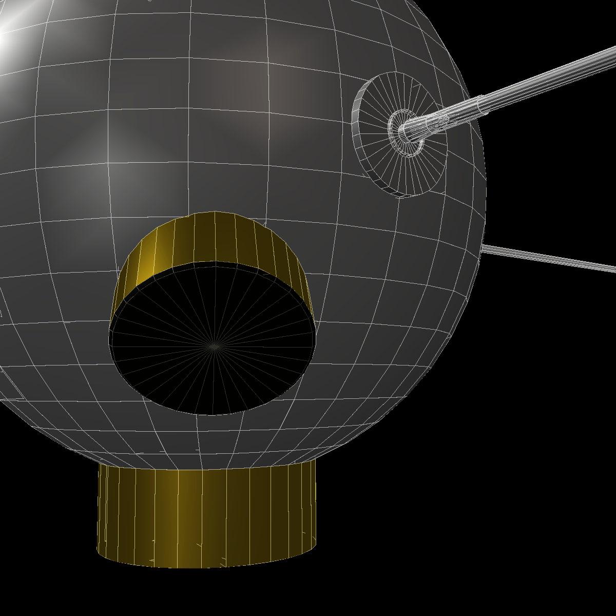 avangard ii satelit 3d model 3ds dxf fbx mješavina cob dae x obj 163945