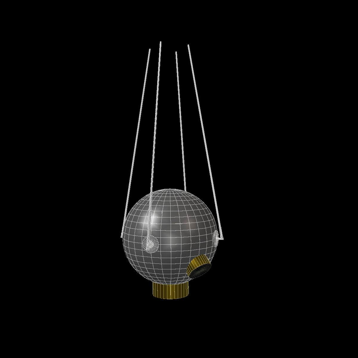 avangard ii satelit 3d model 3ds dxf fbx mješavina cob dae x obj 163947