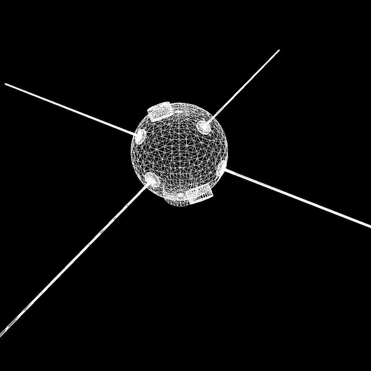 avangard ii satelit 3d model 3ds dxf fbx mješavina cob dae x obj 163948