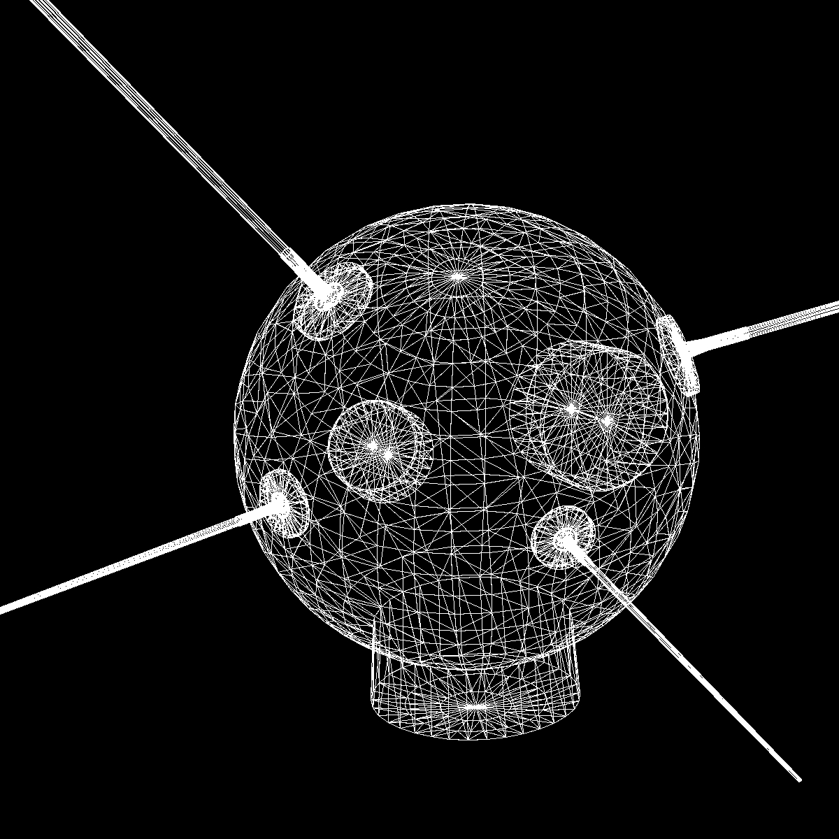 avangard ii satelit 3d model 3ds dxf fbx mješavina cob dae x obj 163949