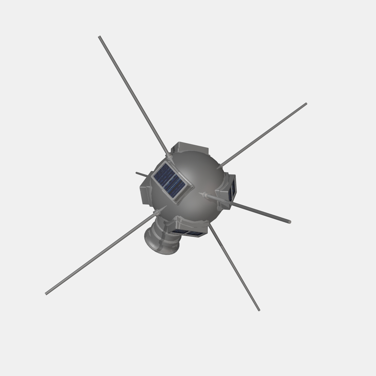 Vanguard I Satellite 3d model 3ds dxf fbx blend cob dae X obj 163928