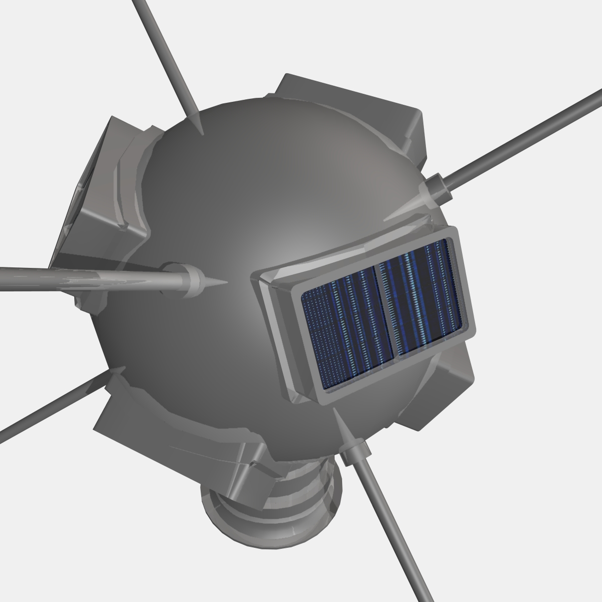 Vanguard I Satellite 3d model 3ds dxf fbx blend cob dae X obj 163930