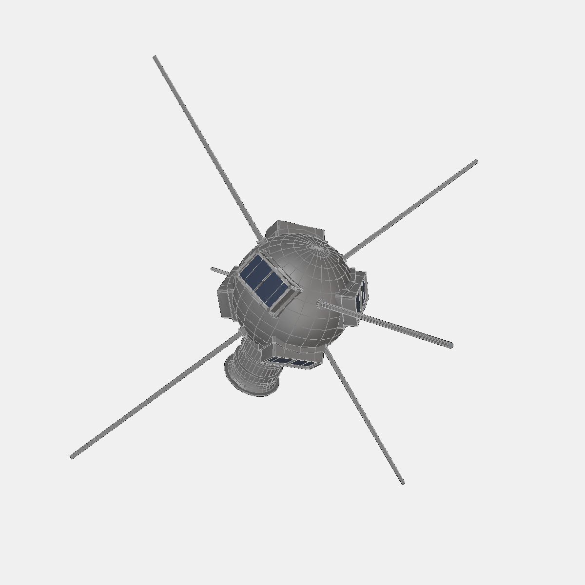 Vanguard I Satellite 3d model 3ds dxf fbx blend cob dae X obj 163931