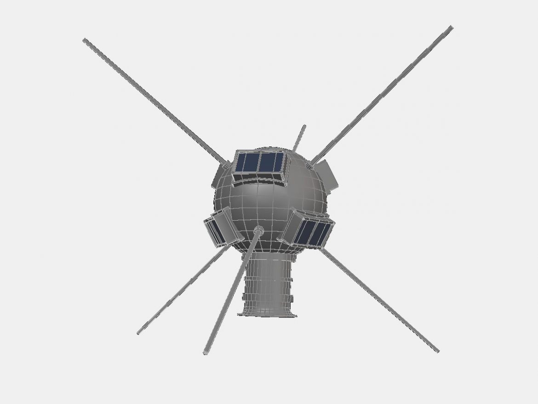 Vanguard I Satellite ( 63.38KB jpg by VisualMotion )