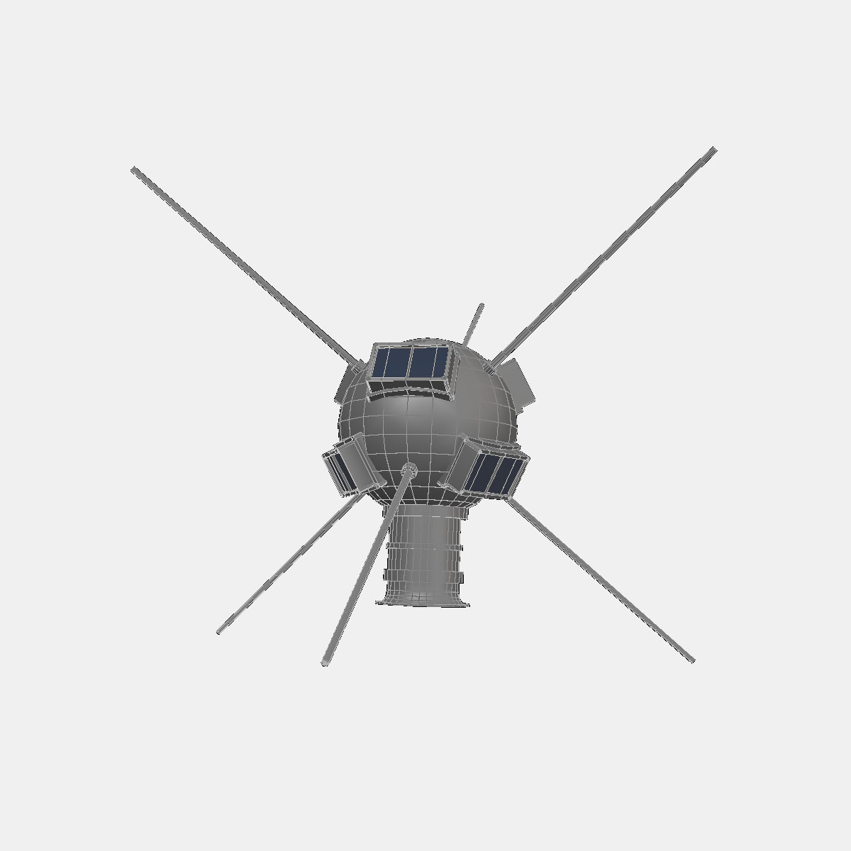Vanguard I Satellite 3d model 3ds dxf fbx blend cob dae X obj 163932