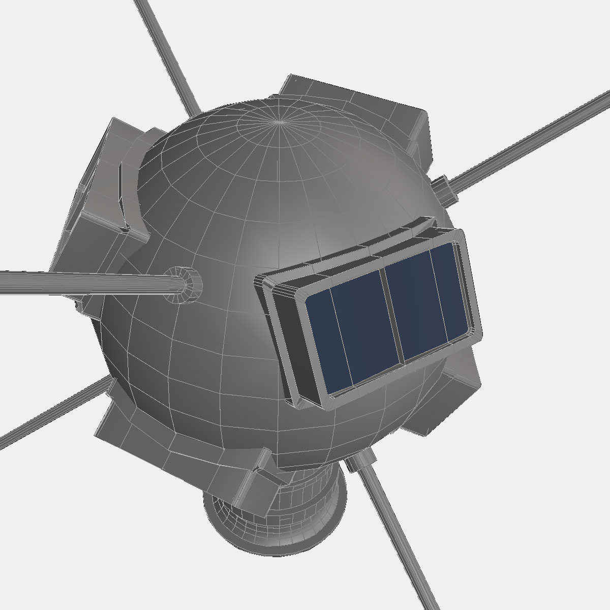 Vanguard I Satellite 3d model 3ds dxf fbx blend cob dae X obj 163933