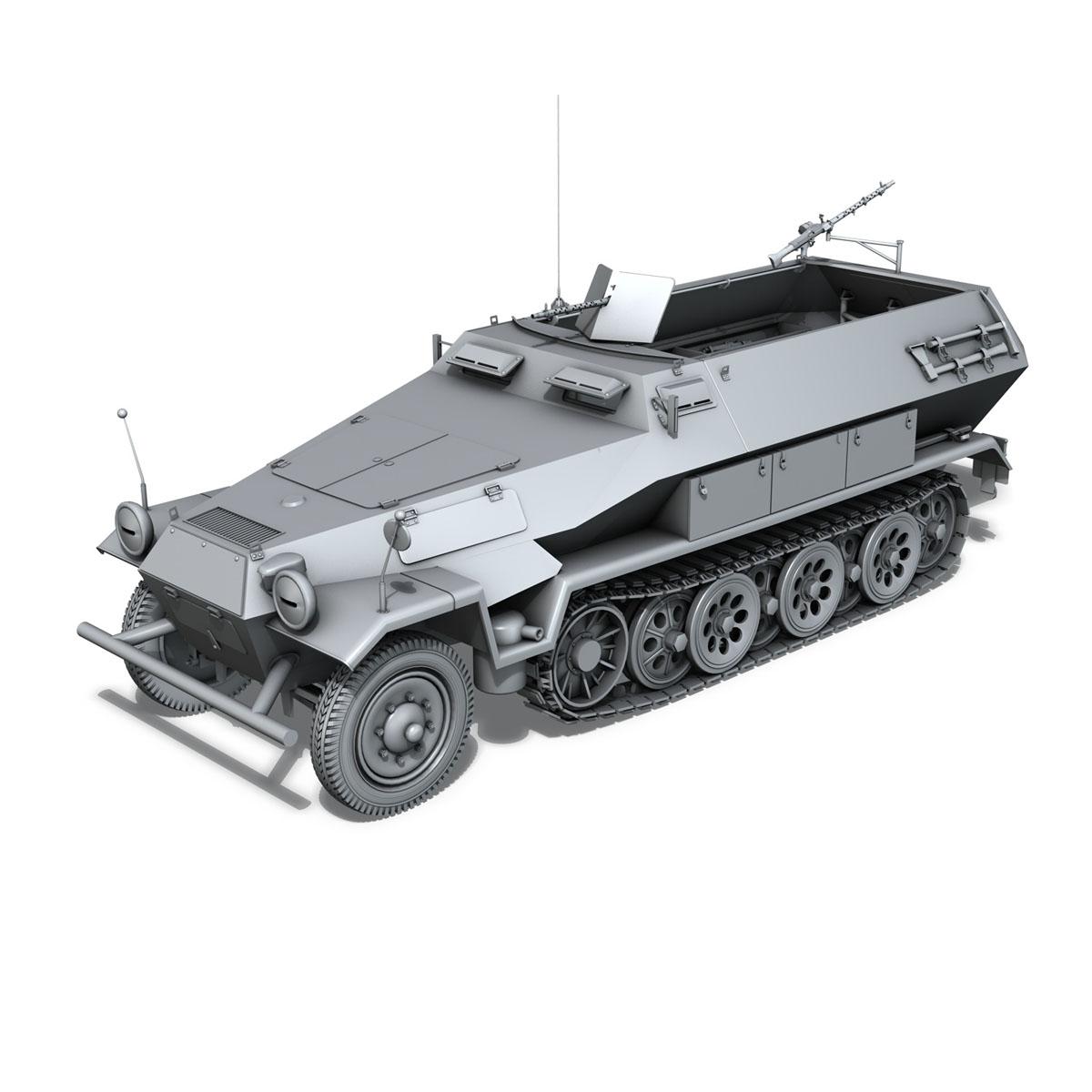 sd.kfz 251/1 ausf.b – hanomag halftruck 3d model 3ds fbx c4d lwo obj 151801