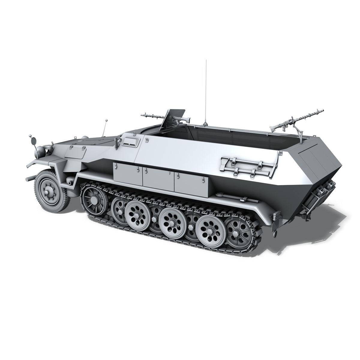 sd.kfz 251/1 ausf.b – hanomag halftruck 3d model 3ds fbx c4d lwo obj 151803