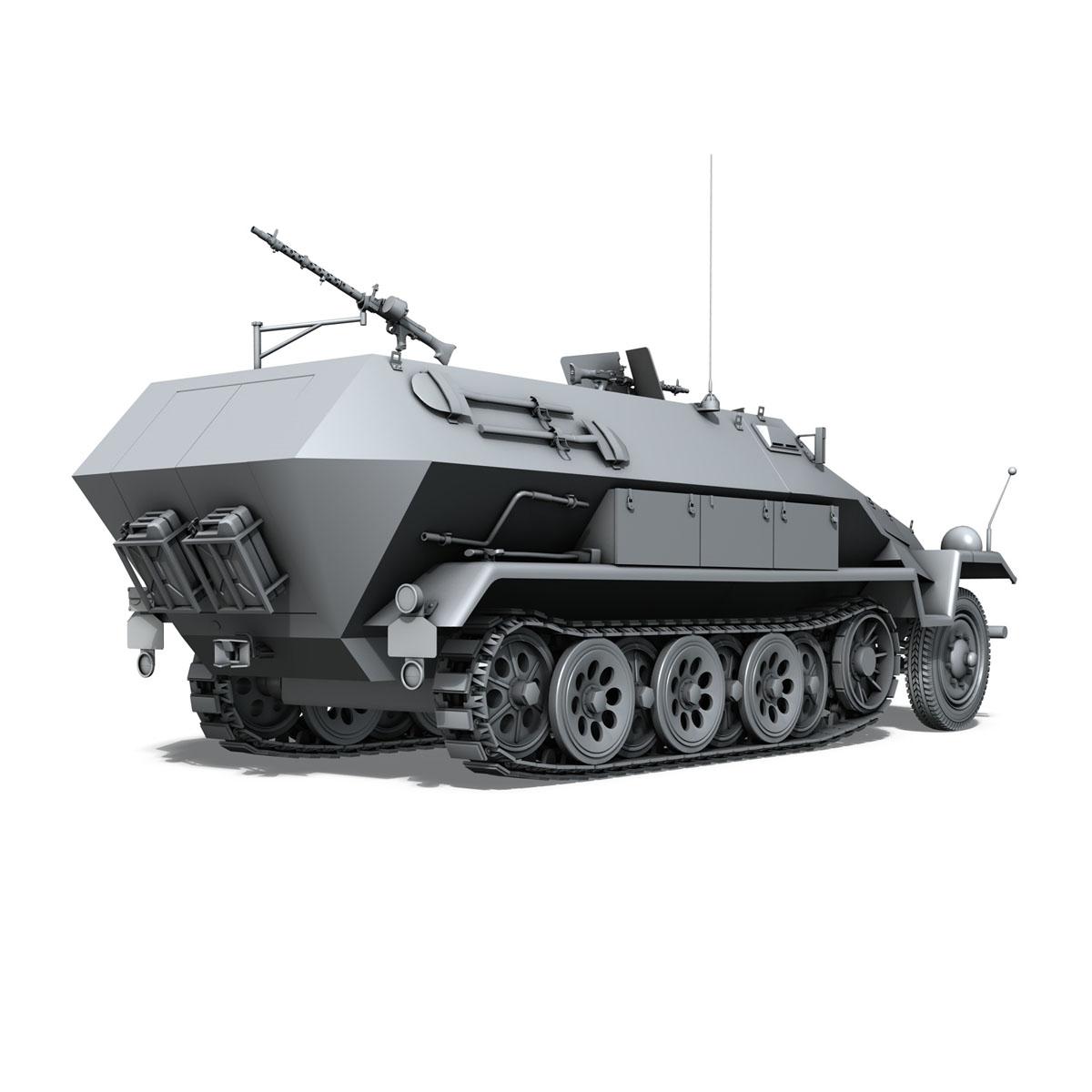 sd.kfz 251/1 ausf.b – hanomag halftruck 3d model 3ds fbx c4d lwo obj 151805