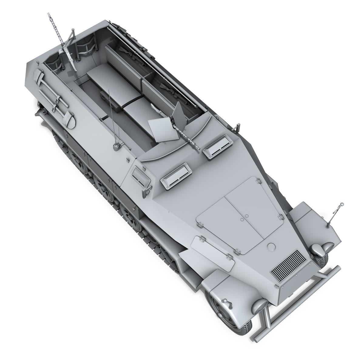 sd.kfz 251/1 ausf.b – hanomag halftruck 3d model 3ds fbx c4d lwo obj 151807