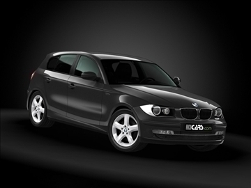 2008 bmw 1 series 3d model maks 99185