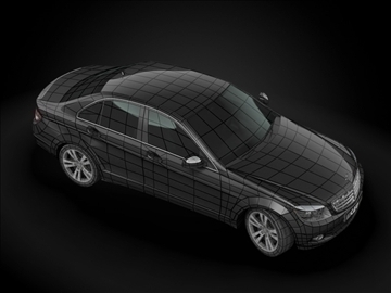 2008 mercedes benz c class 3d model max 99204
