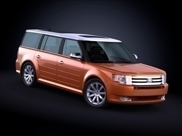 2010 ford flex 3d model maks 99181