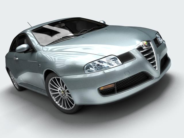 alfa romeo gt 2004 3d model 3ds max fbx obj 124383