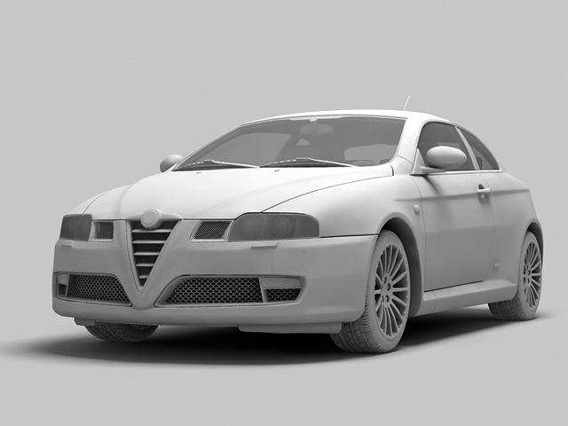 alfa romeo gt 2004 3d model 3ds max fbx obj 124390