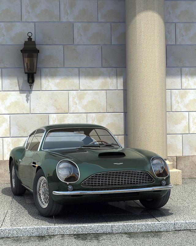 aston martin sport kupe 3d model 3ds max obj 125024