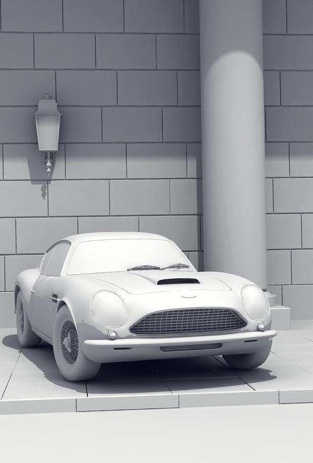 aston martin sport kupe 3d model 3ds max obj 125026