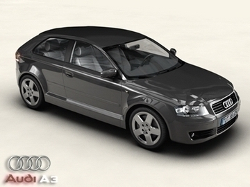 audi a3 3d model 3ds maks obj 81455