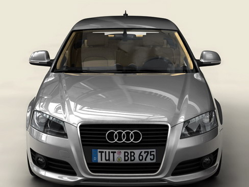 audi a3 sportback Model 2009 3d 3ds max lwo obj 113822