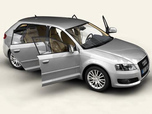 audi a3 sportback Model 2009 3d 3ds max lwo obj 113823