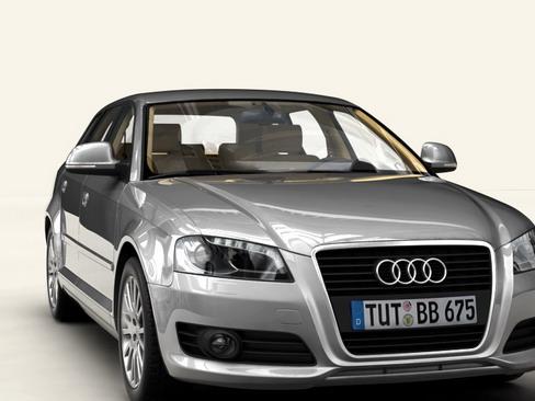 audi a3 sportback Model 2009 3d 3ds max lwo obj 113825