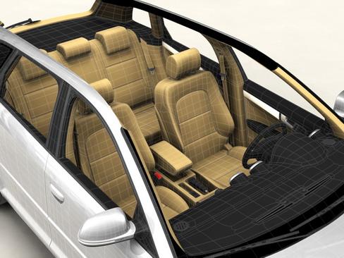 audi a3 sportback Model 2009 3d 3ds max lwo obj 113826
