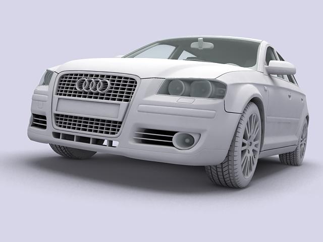 audi a3 sportback 3d model 3ds max fbx obj 124408