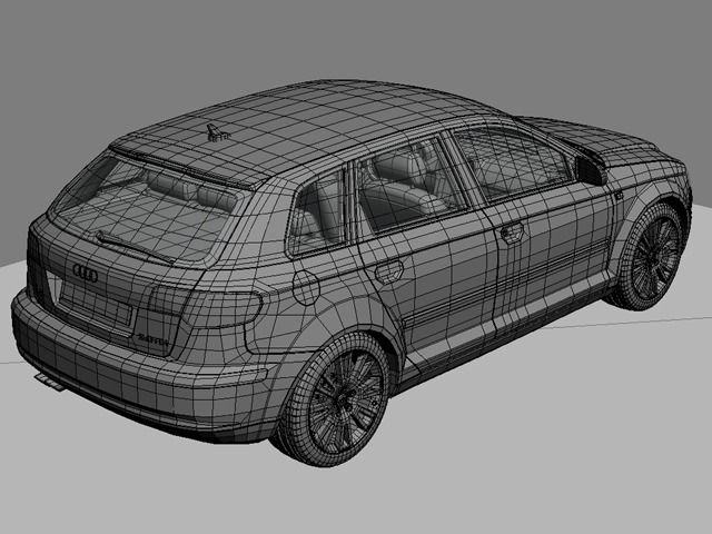 audi a3 sportback 3d model 3ds max fbx obj 124412