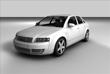 audi a4 2 3d model 3ds c4d tekstura 109109