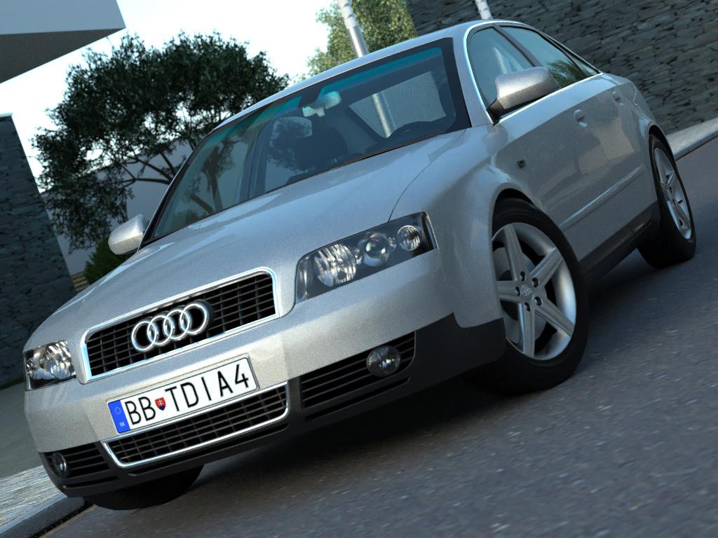 audi a4 (2003) 3d líkan 3ds max fbx c4d obj 84479