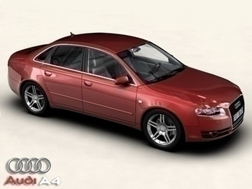 audi a4 2005 3d model 3ds maks obj 81482