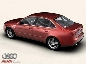 audi a4 2005 3d model 3ds max obj 81483