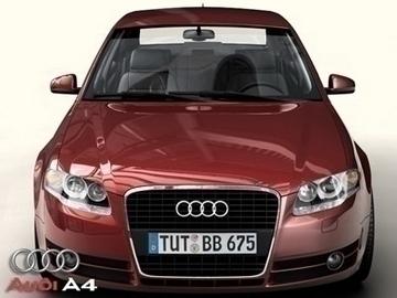audi a4 2005 3d model 3ds max obj 81484