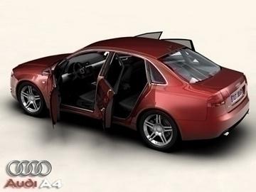 audi a4 2005 3d model 3ds max obj 81486