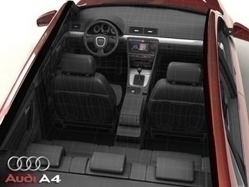 audi a4 2005 3d model 3ds max obj 81487