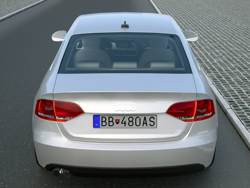 audi a4 (2008) 3d modelis 3ds max fbx c4d obj 89059