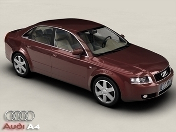 audi a4 3d modell 3ds max.